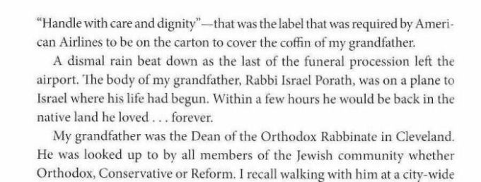 reflections on my grandfather rabbi israel porathjudah rubinstein  historian of the jewish federation of cleveland  selected laura steinberg    s remembrance of her grandfather for inclusion in a collection